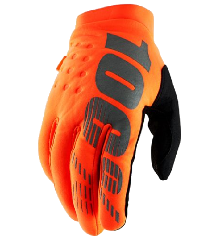Перчатки 100% BRISKER Glove Fluo Orange/Black в АЗИМУТ 66